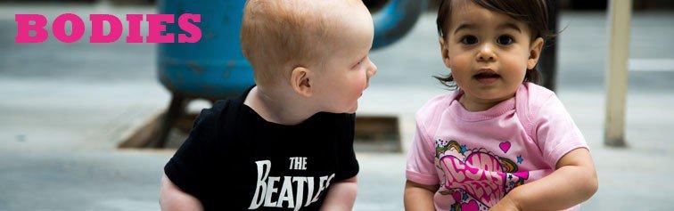 Bodies para bebés Rock