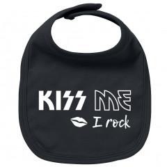 Babero bebe Rock kiss me I Rock