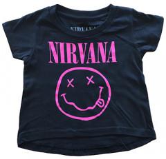 Camiseta Nirvana Smiley Pink para bebé