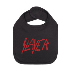 Babero Slayer red logo