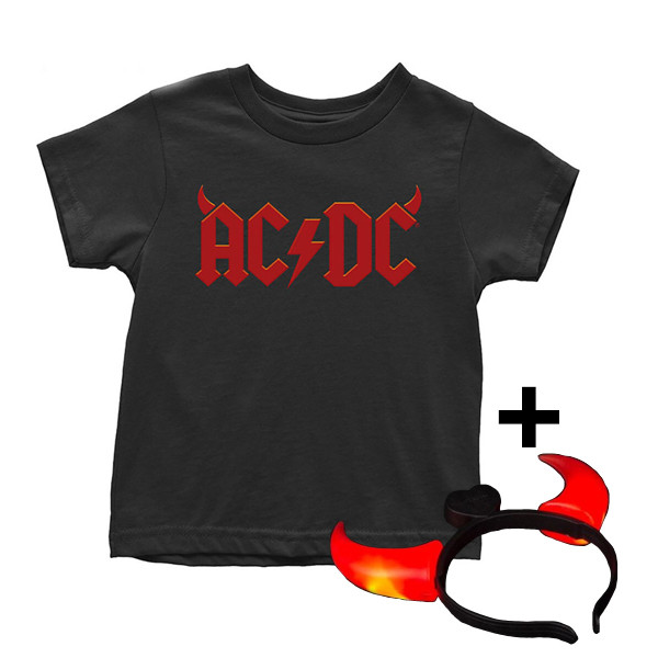 Camiseta AC/DC para niños Devil Horns