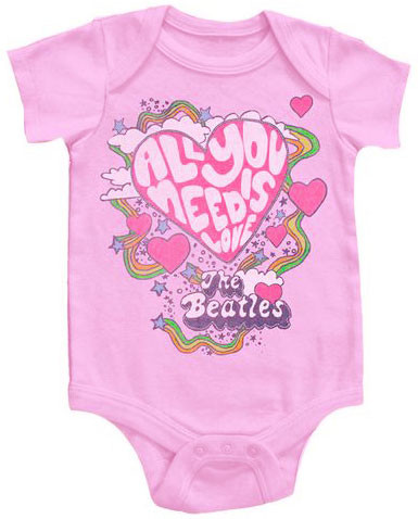 Body Bebé Beatles All You Need Is Love Pink