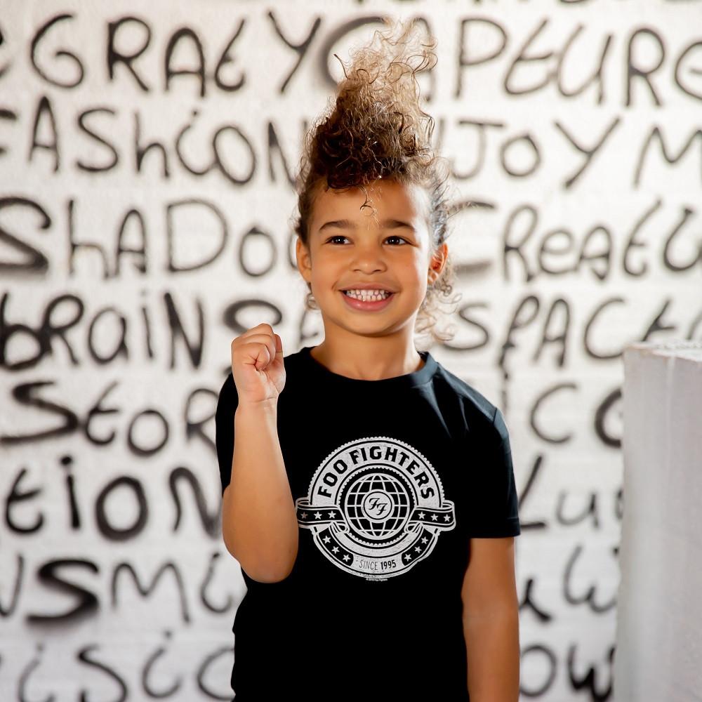 Camiseta Foo Fighters para niños fotoshoot