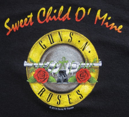 Guns and Roses baby logo Bullet Sweet Child of Mine