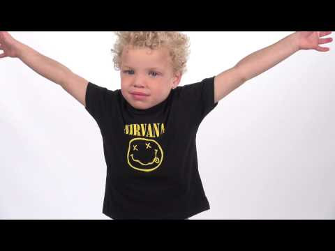 Camiseta Nirvana para niños Smiley