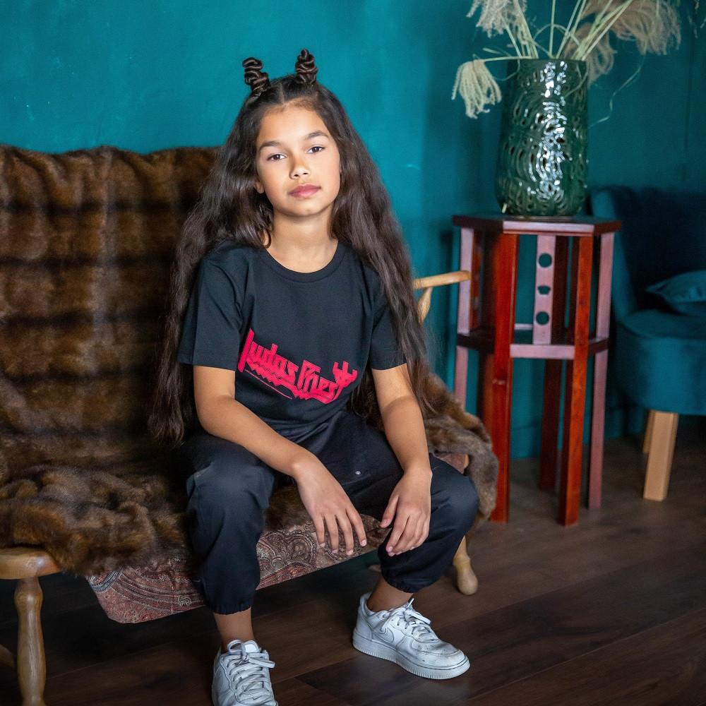Camiseta para niños Judas Priest Logo fotoshoot