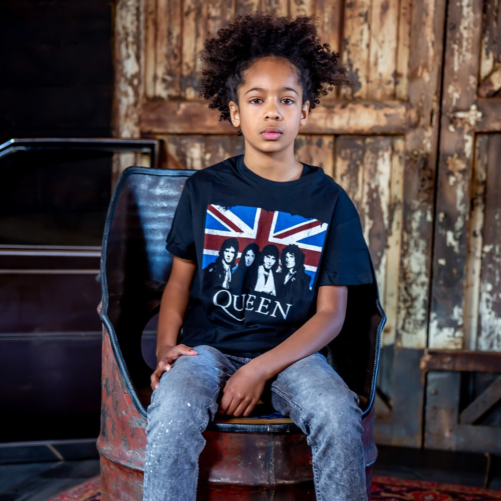 Camiseta Queen para niños England Flag fotoshoot