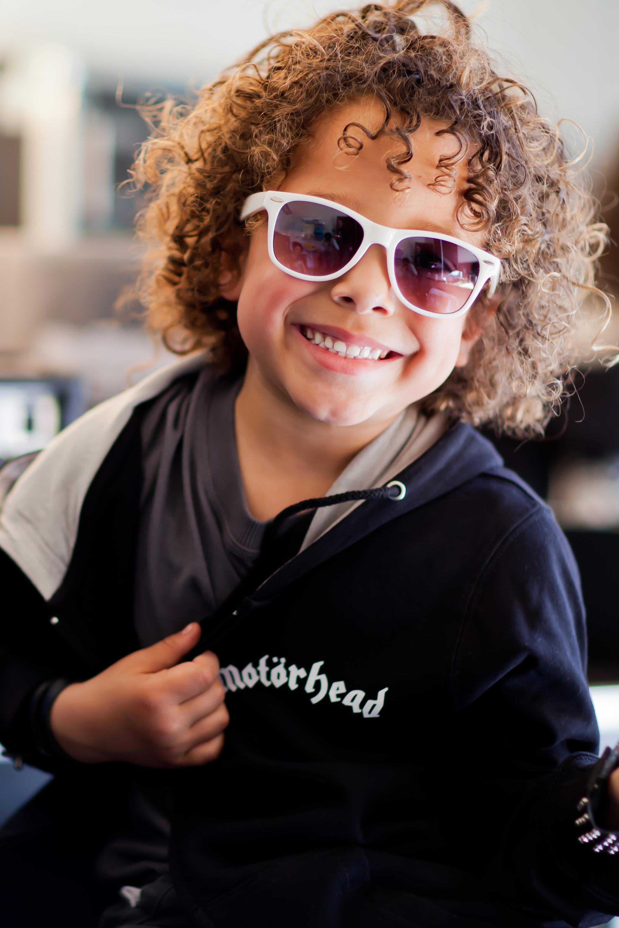 Chaqueta para niños de Motörhead England con cremallera y capucha photoshoot