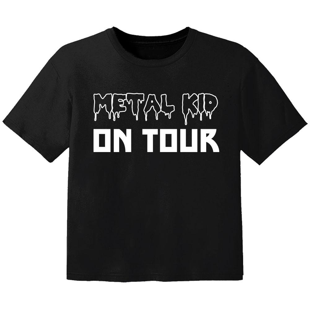 Camiseta Rock para niños Metal kid on tour