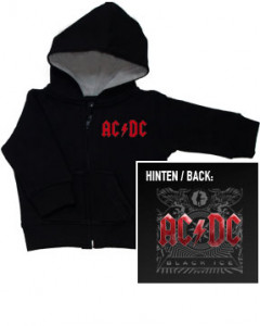 Chaqueta para bebé de AC/DC Black Ice con cremallera y capucha