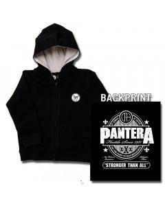 Chaqueta para niños de Pantera Stronger Than All con cremallera y capucha