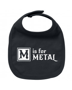 Babero bebe Metal M is for Metal