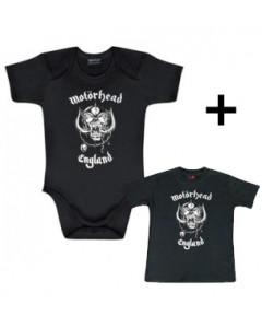 Juego de regalo con body de Motörhead England y camiseta para bebé de Motörhead England