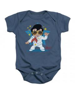 Body Bebé Elvis Singing Blue