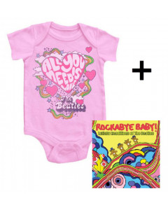 Juego de regalo con body de Beatles All You Need is Love y CD Rock Baby Lullaby de Beatles