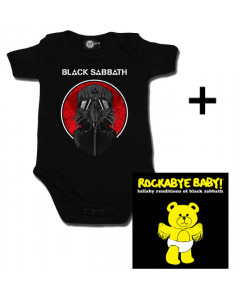 Juego de regalo con body de Black Sabbath y CD Rock Baby Lullaby de Black Sabbath