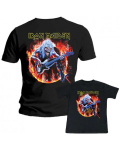 Duo Rockset con camiseta para papá de Iron Maiden y camiseta para niños de Iron Maiden