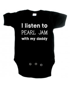 Body Bebé Rock I listen to Pearl Jam with my Daddy
