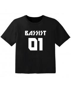 Camiseta Rock para bebé bassist 01