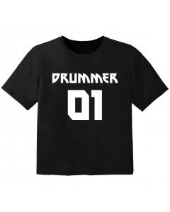Camiseta Rock para bebé drummer 01
