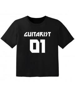 Camiseta Rock para bebé guitarist 01