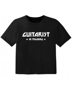 Camiseta Rock para bebé guitarist in training