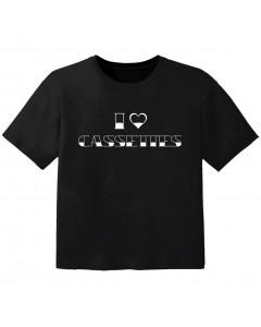 Camiseta Cool para bebé I love cassetes