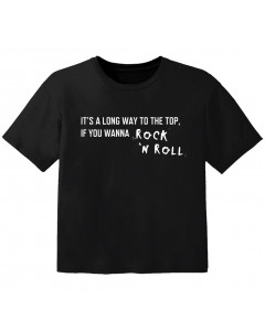 Camiseta Rock para bebé its a long way to the top if you wanna Rock 'n' roll