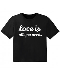 Camiseta Cool para bebé love is all you need