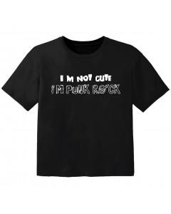 Camiseta Rock para bebé im not cute im Punk Rock