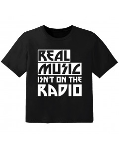 Camiseta Cool para bebé real music isnt on the radio
