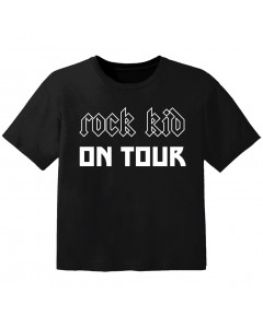 Camiseta Rock para bebé Rock kid on tour