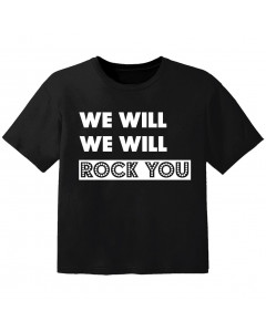 Camiseta Rock para niños we will we will Rock you