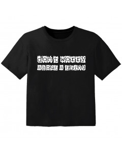 Camiseta Rock para niños don't worry about a thing