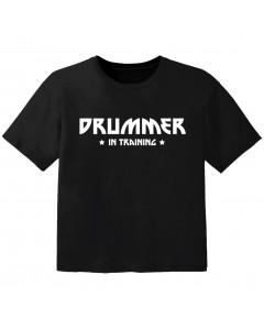 Camiseta Rock para niños drummer in training