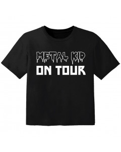 Camiseta Rock para niños Metal kid on tour
