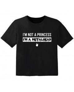 Camiseta Rock para niños I'm not a princess I'm a Metalhead