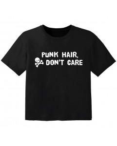 Camiseta Rock para niños Punk hair don't care