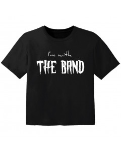 Camiseta Rock para niños I'm with the band