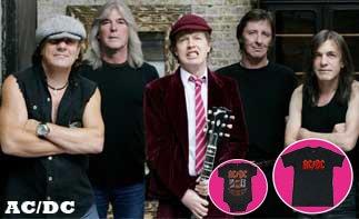 AC/DC ropa bebe rock
